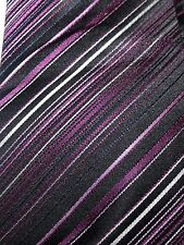 ST GEORGE BY DUFFER BLACK & PURPLE MIX MENS TIE EXCELLENT CONDITION # 274