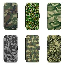Camouflage Military Army Camo WALLET FLIP PHONE CASE COVER FOR IPHONE MODELS