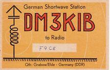 Z64 Carte QSL Radio Amateur Opérateur DM3KIB en Allemagne DDR a GRABOW ELDE