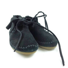 TOMS Women Size 6 Black Suede Fold Over Moccasin Zahara Bootie