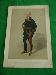 ANTIQUE PRINT Chromolithograph 1895c SIGNED SPY ARMY FIELD MARSHAL ROBERTS