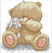 A Cute Bear. 14CT Counted Cross Stitch Kit. Craft Brand New.