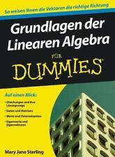 Grundlagen der Linearen Algebra für Dummies von Mary Jane Sterling (2010, Taschenbuch)