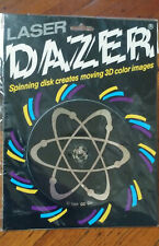 Vtg 1988 Laser Dazer 3d Color Spinning Light Attraction Disc RARE Model