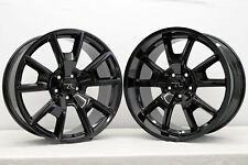 """20"""" Gloss Black 05-18 Mustang 746 Style Staggered Wheels 20x8.5 20x10 5x114.3"""