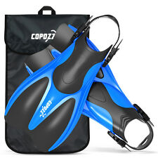 Copozz Scuba Diving Light Fins Open Heels US 4-13 Snorkel Swim Training Flippers