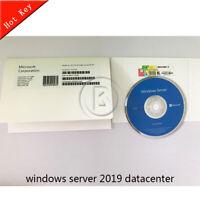 Microsoft Windows Server 2019 Data Center [Sealed Box] DVD + Key Full Version
