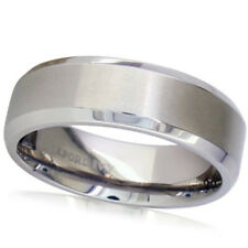 7mm Beveled Edge Comfort Fit Titanium Wedding Band