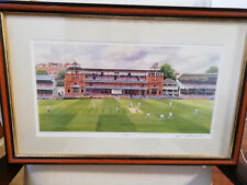 Lords Cricket Ground Print- Signed Terry Harrison - Framed Picture Collectable