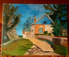 """Original-One of Kind-Oil/Canvas Painting-""""French Country""""-Signed-COA-Listed Art"""