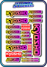 KYOSHO MODEL RC CAR DRONE BOAT BUGGY MINI Z STICKERS DECALS ROBOT R/C YEL/PNK B