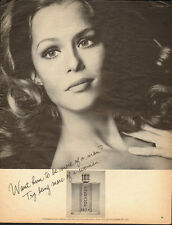 1969 Vintage ad for Emeraude parfum by Coty/Pretty Model  (050813)