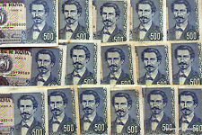 BOLIVIE  billet usage de 500  PESOS  Pick 166  EDUARDO AVAROA 1981