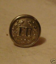 old Silverplated FD Fire Dept  mini Badge