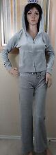 NWT VISION SPORTS gray hooded zipper long sleeve jacket & pant sweat set,jr M