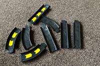 hot wheels vintage racing Track X 8 Pieces Black Car Track X