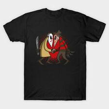 """Freddy Vs Jason """"Spy Vs Spy"""" Killers Horror Movie Halloween Mashup Black T-Shirt"""