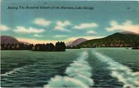 Vintage Postcard - 1955 Lake George Islands Of Narrows New York City NY #4271