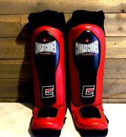 Combat Corner Professional Leg Shin Guard Pads In-Steps MMA Muay Thai Size M