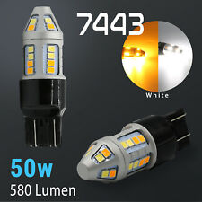 2018 High Power Chip LED 7443 Dual Color Switchback LED Turn Signal Light Bulbs