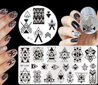 4pcs/set Born Pretty Geometry Theme Nail Art Stamping Plates  Template