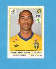 PANINI-EURO 2012-Figurina n.435- MAJSTOROVIC - SVEZIA -NEW WHITE BOARD