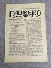 [11585-B14] Esperanto - Revue espérantiste - Fajrero - Belgium Belgio junio 1934