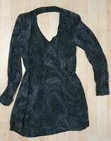 Parker Black Mini Dress 100% Silk Size S