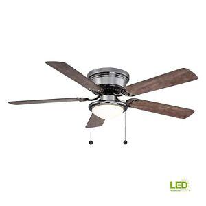 Hugger 52 in. LED Gunmetal Ceiling Fan With Light Kit AL383LED-GM