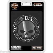 HARLEY DAVIDSON WILLIE G. SKULL  AUTO EMBLEM STICKER DECAL