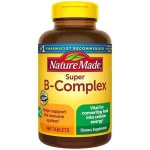 Nature Made Super B-Complex with Vitamin C & Folic Acid, 460 tablets EXP 4/23!