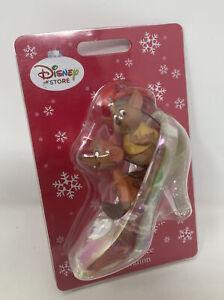 Disney Cinderella Jaq & Gus In Glass Slipper Figurine Tree Ornament