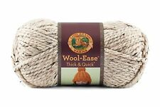 Lion Brand Yarn 640-123E Wool-Ease Thick and Quick Yarn, Oatmeal , New, Free Shi