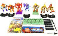 MOTU Mega Construx 7 Figure Lot & Parts HeMan, Skeletor, Masters of the Universe