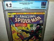 Amazing Spider-Man 102 (CGC 9.2) OW/W p; Origin & 2nd Morbius 1971 (r#00018)
