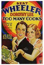 TOO MANY COOKS Movie POSTER 27x40 Bert Wheeler Dorothy Lee Roscoe Ates Robert