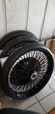 "26"" FAT SPOKE DUAL DISC  BLK, BLK, BLK, W BW TIRE 4 HARLEY TOURING HD 00-07"