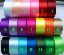 """1-1/2""""38mm Solid Colors Satin Ribbon Single Face 5Yard Sewing Craft Packing"""