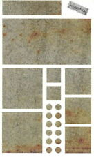 ~ RUSTY Metal Blocks Square Rectangle Circle Grossman Stickers SALE PRICE ~