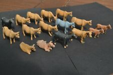 O Gauge Model Railway Accessories - Hand Painted White Metal Cows x 16
