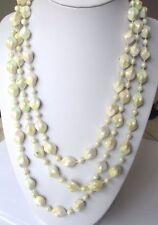 Grand collier sautoir perles résine à reflets 78 cm bijou vintage 330