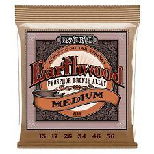 ERNIE Ball Earthwood bronzo al fosforo le corde per chitarra mediumacoustic-Gauge 13-56