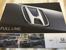 2017 HONDA MOTOR CAR SALES BROCHURE BOOK CR-V PILOT RIDGELINE CIVIC ACCORD