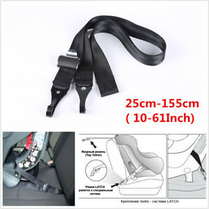 Universal Car Baby Safety Seats Double-Hooks ISOFIX Latch Connection Seat Belts