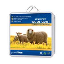 AUSTRALIAN WOOL Quilt Doona Single/King Single/Double/Queen/King 350/500/700gsm