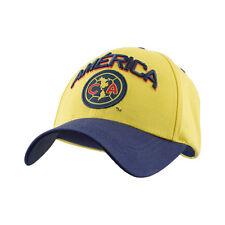 Club America Strapback Cap Hat Yellow/Navy/CA Logo soccer