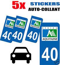 5 autocollants Style plaque immatriculation auto Département 40
