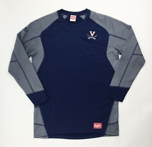 Rawlings Virginia Cavaliers Baseball Pullover Dugout Jacket Men's L UDFP4 Navy