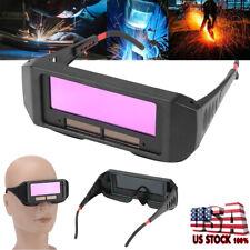 Solar Powered Auto Darkening Welding Mask Helmet Eyes Goggle Welder Glasses NEW