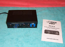 Pyle Pro PCA4 2 x 120  stereo power amplifier w/ aux CD/mp3 input VGCond. amp